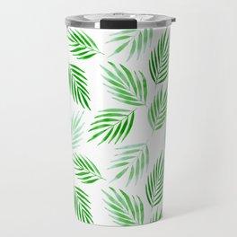 Tropical areca palms pattern in green Travel Mug