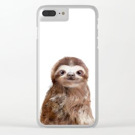 Little Sloth Clear iPhone Case