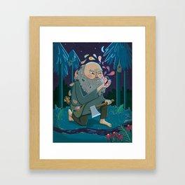 Giant & Fairies Framed Art Print