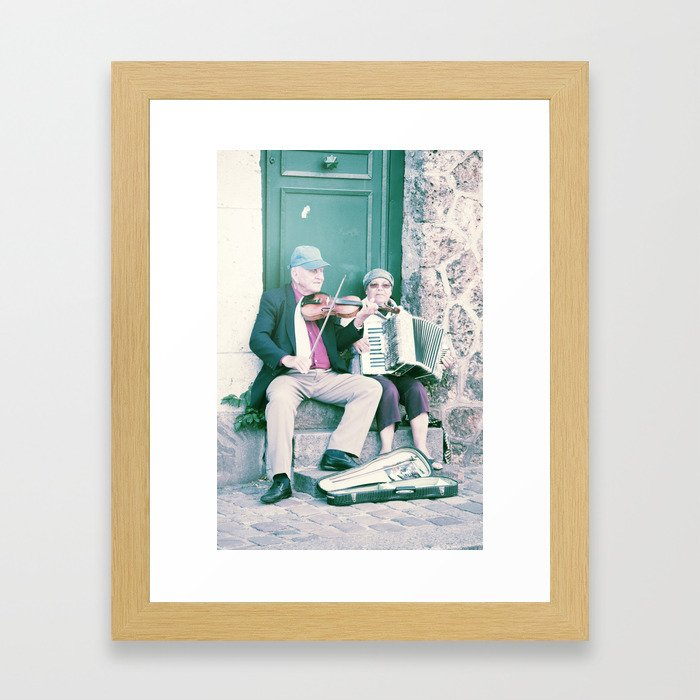 Old School Busking Framed Art Print