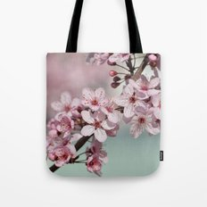 Pretty Pink Cherry Blossom Flowers Tote Bag