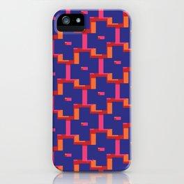 Geometrix / Deep Blue iPhone Case