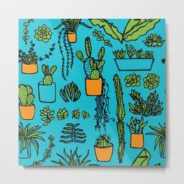 Cacti on Repeat Metal Print