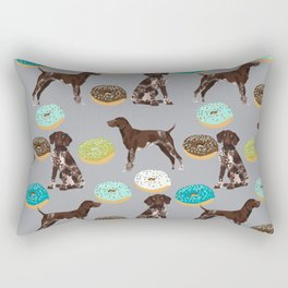 German Shorthair Pointer donuts dog art custom pet portraits of dog breeds by pet friendly Rectangular Pillow