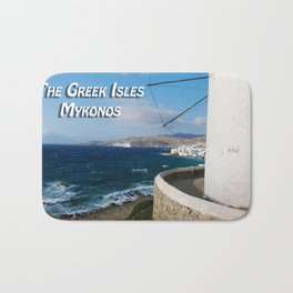 The Greek Isles - Mykonos Greece Bath Mat