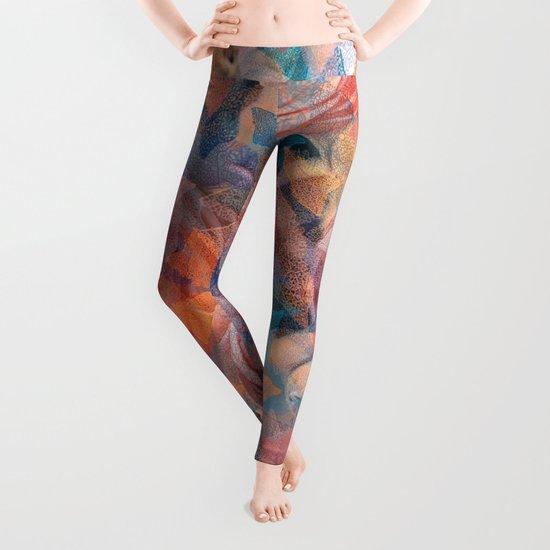 Leaf mosaic(19). Leggings