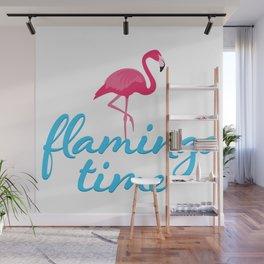 Flamingo time Wall Mural