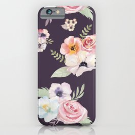 Floral I - Eggplant iPhone Case