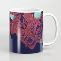 roses Mugs featuring Roses by Eleaxart