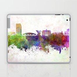 Ljubljana skyline in watercolor background Laptop & iPad Skin