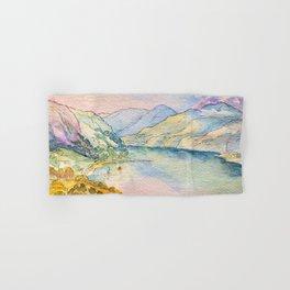 Original Watercolor English Landscape Hand & Bath Towel