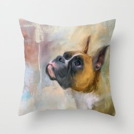 Flashy Fawn Boxer Throw Pillow