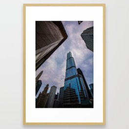 Trump International Hotel and Tower Framed Art Print
