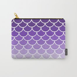Ombre Fish Scale In Grape Carry-All Pouch