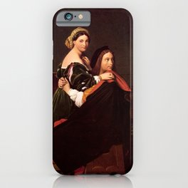 """Jean-Auguste-Dominique Ingres """"Raphael and the Fornarina"""" iPhone Case"""