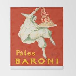 Vintage poster - Pates Baroni Throw Blanket