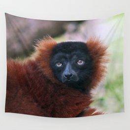 Red Ruffed Lemur Wall Tapestry
