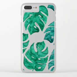 Watercolor Leaves II Clear iPhone Case