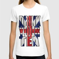 british T-shirts featuring Tea / British by tshirtsz