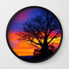 Pinks  n Purples thu Boab Wall Clock