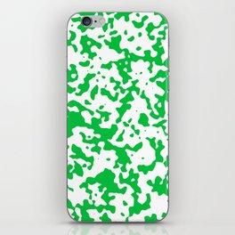 Spots - White and Dark Pastel Green iPhone Skin