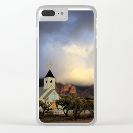 Clouds on the Mountain Clear iPhone Case