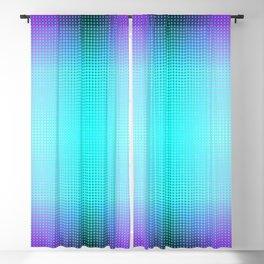 Purple Blue Black Ombre Hexagons Bi-lobe Contact binary Blackout Curtain