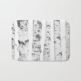 Birch Trees | Forest Landscape Photography Minimalism Bath Mat