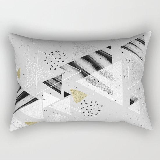 Geometric abstract triangles Rectangular Pillow