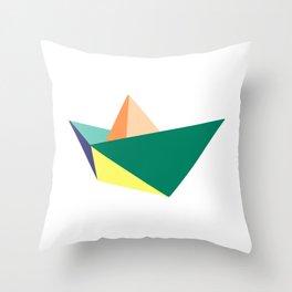 Fune, original colours on white Throw Pillow