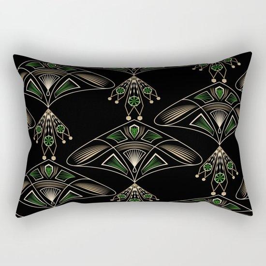 """Art Deco . """"Emeralds """". Rectangular Pillow"""