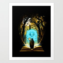 Book of Magic and Adventures Art Print