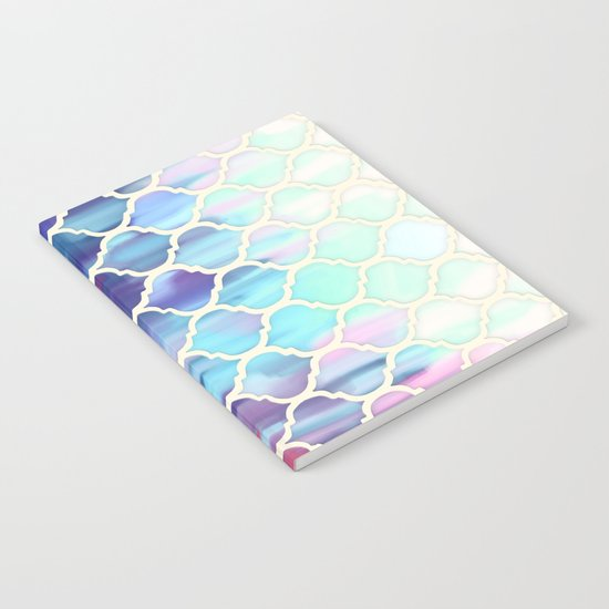Moroccan Meltdown - pink, purple & aqua painted tiles Notebook