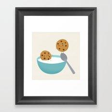 Two cookies Framed Art Print