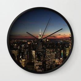 New York Dusk Wall Clock