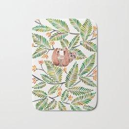 Happy Sloth – Tropical Green Rainforest Bath Mat