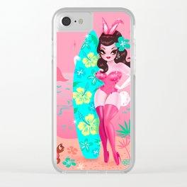 Hawaii Burlesque Festival Beach Bunny Clear iPhone Case