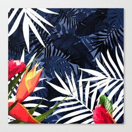 Bold Tropical Paradise Design Canvas Print