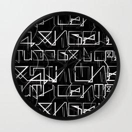 Cholo Hieroglyphics Wall Clock