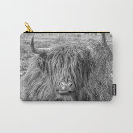 Black and white big Scottish Highland cow Carry-All Pouch