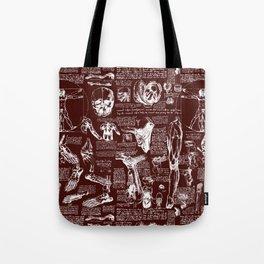 Da Vinci's Anatomy Sketchbook // Mahogany Tote Bag