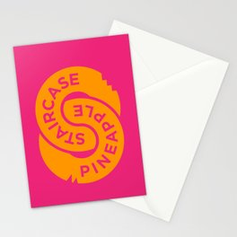 Pineapple Staircase  |  Official Logo in Pink/Orange Stationery Cards