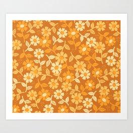 Gold Floral Art Print