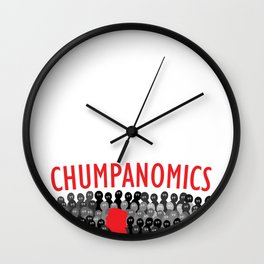 CHUMPANOMICS Wall Clock
