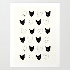 Cat Pattern Art Print
