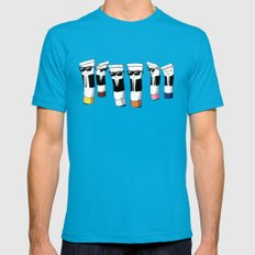Reservoir Colours (with blood and light colored t-shirts) Teal LARGE Mens Fitted Tee