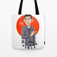 pacific rim Tote Bags featuring Herman Gottlieb Pacific Rim by TheDigitalPandora