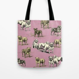 Bulldogs funny pattern Tote Bag