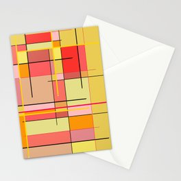 color and lines Stationery Cards