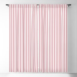Mattress Ticking Narrow Striped USA Flag Red and White Blackout Curtain